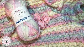 Baby-Decke stricken im Bubble-Muster / Strickanleitung für Muster / Woolhouse.de