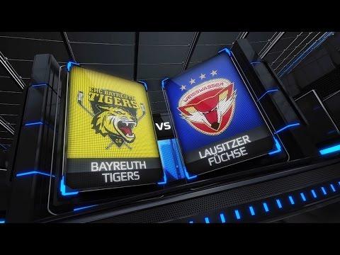 DEL2 Highlights 37. Spieltag   EHC Bayreuth Tigers vs. Lausitzer Füchse