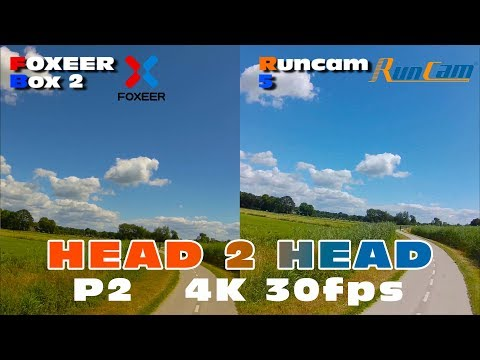 Side by side comparison between the Runcam 5 & Foxeer Box 2 in 4K