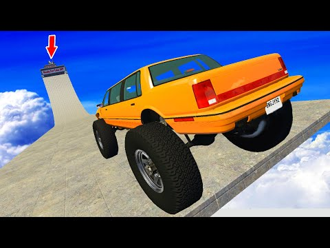 IMPOSSIBLE EPIC JUMPS - BeamNG Drive   CrashTherapy