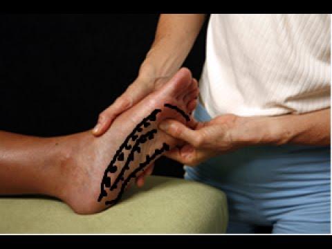 Wie den Kern auf dem Daumen auf dem Bein auszunehmen