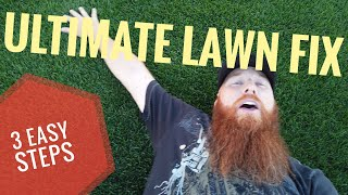 Ultimate lawn fix - 3 easy steps  dethatcher, scarify and fertilize
