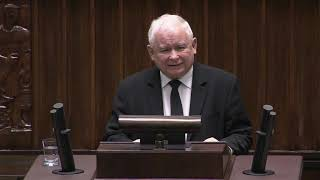 Jarosław Kaczyński – Wystąpienie Prezesa PiS w Sejmie
