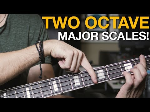 How to Play a Two Octave Major Scale on Bass - Bass Lesson