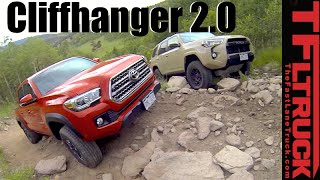 2016 Toyota Tacoma vs 4Runner TRD Pro vs Cliffhanger 2.0 Extreme Off-Road Mashup Review by The Fast Lane Truck