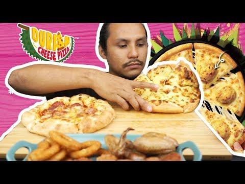 Boleh tak jangan letak DURIAN dalam PIZZA lagi lepas ni? (mukbang malaysia)