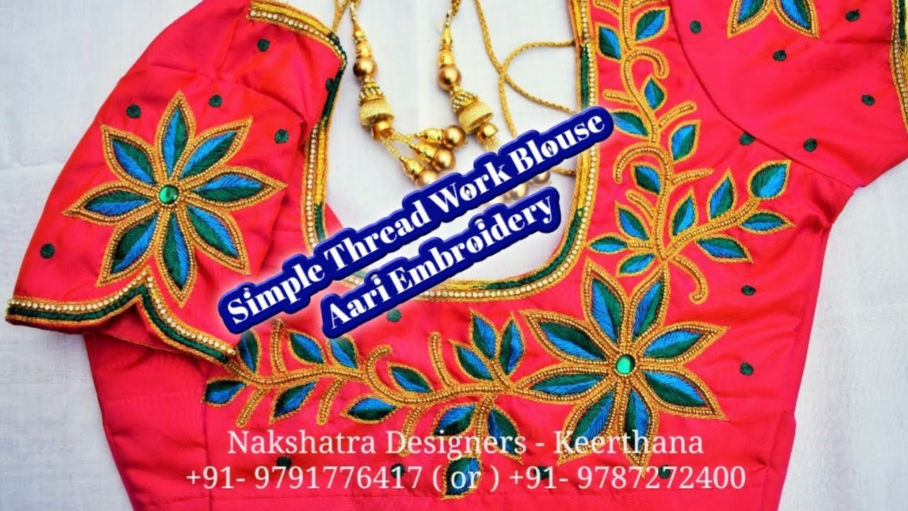 Video Simple Thread Work Blouse With Drawing Design In Aari Embroidery Nakshatra Designersdear Friends Welcome To Nakshatra Designers This Video Is About Simple Thread Work Flower Design In Aari Embroidery,Jamaican Toe Nail Designs
