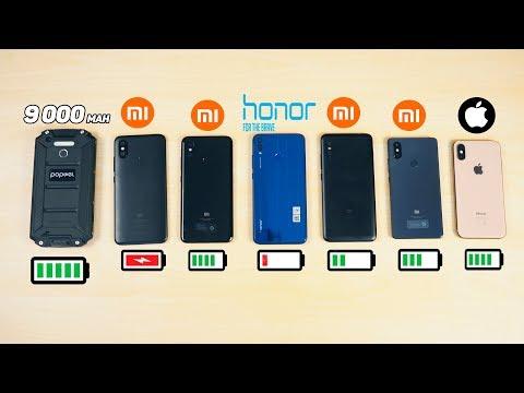 КТО ПРОЖИВЁТ ДОЛЬШЕ? iPhone XS, Xiaomi Mi 8, Redmi Note 6 Pro, Mi 8 SE, Mi A2, Honor 8X, 9 000 Mah