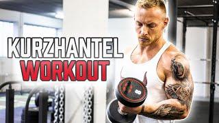 KURZHANTEL Ganzkörper Workout für Zuhause | Muskelaufbau mit diesen 5 Hantel Übungen für daheim