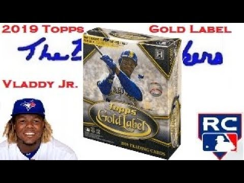 2019 Topps Gold Label Baseball Hobby Box Opening Rookie Vladdy Jr Acuna Ohtani Mike Trout Mattingly