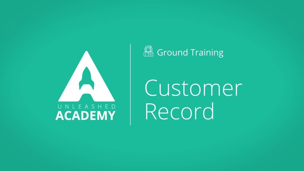 Customer Record YouTube thumbnail image