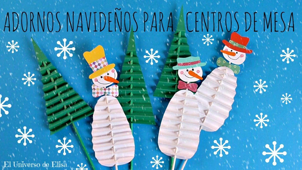 Cómo hacer Adornos Navideños para Centros de Mesa, Muñeco de Nieve, Manualidades para Navidad