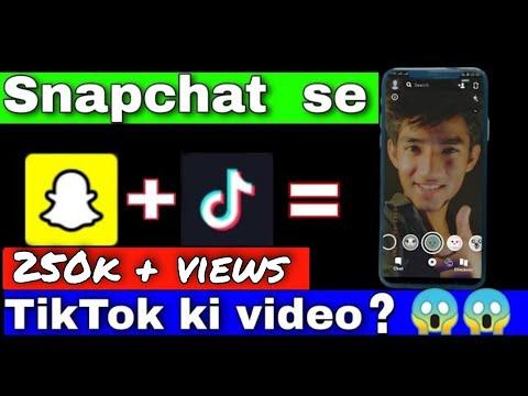 How To Edit Tik Tok Videos On Snapchat