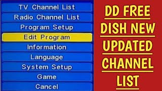 dd free dish new update channel list ??? ( in hindi )