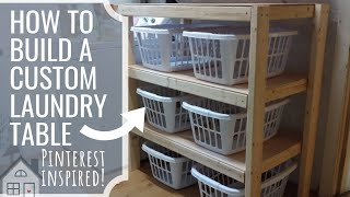 TUTORIAL: How To Build A Laundry Sorting Shelf System | Building A Laundry Table | Laundry Hacks