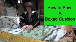 How To Sew A Boxed Cushion
