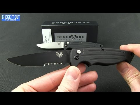 "Benchmade Mini-Reflex II Automatic Knife (3.17"" Satin Serr) 2551S"