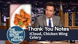 Thank You Notes: iCloud, Chicken Wing Celery