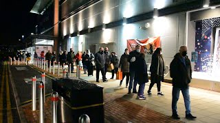 video: Watch: Huge queues at 7am outside supermarket for Christmas food