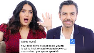 Salma Hayek & Eugenio Derbez Answer the Web's Most Searched Questions | WIRED