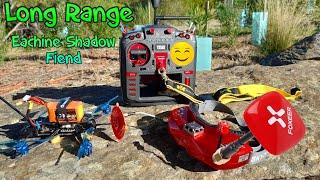 Eachine Shadow Fiend - Long Range FPV - Foxeer Patch Range Test!