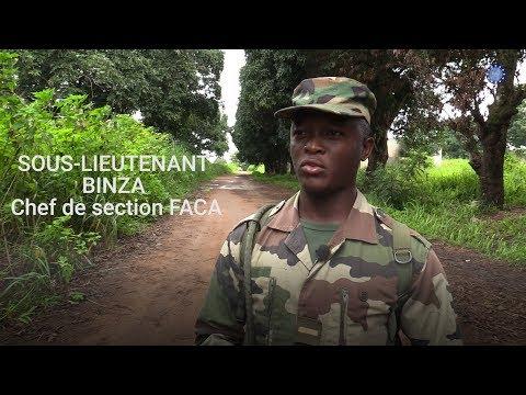 Message du sous-lieutenant Binza