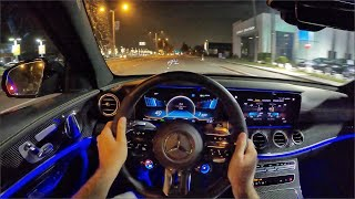 2021 Mercedes-AMG E63 S 4Matic+ Sedan POV Night Drive (3D Audio)(ASMR) by MilesPerHr
