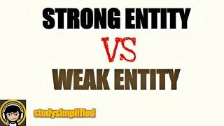 strong entity vs weak entity in dbms