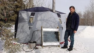 8 Weeks Winter Camping - Solar Water Heater, Tent & Wood Stove Info