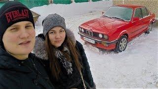 Ч8.BMW E30 МАЛЫШКА РАЛЛИ 4x4 едет по сугробам ! Раскоксовка мотора LAVR !