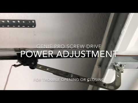 Genie garage door opening or closing problem fix