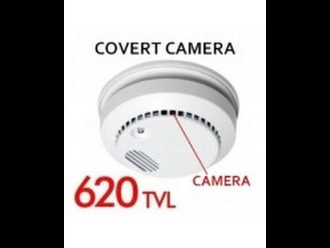 Hidden Spy Smoke Detector Camera Fully Functionally 620 TV Line CCD  #CCTV
