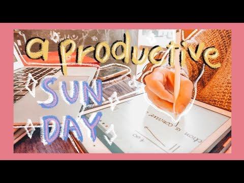 [VLOG/ENGSUB] 👩🏻💻 MỘT NGÀY CHỦ NHẬT HỌC SẤP MẶT 😓 A Productive Sunday 🌿🇺🇸 | Diane Le