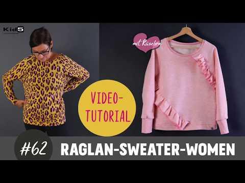 Damen-Raglan-Sweater im oversized Look ganz einfach selber Nähen /   DIY-Nah-Tutorial