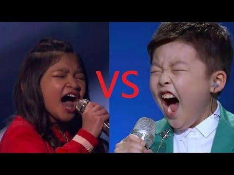 Angelica Hale vs Jeffrey Li  -  Let's hit those high notes