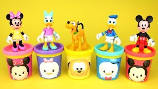 Mickey Mouse & Friends Tsum Tsum Play Doh Molds Surprise Toys Minnie Mouse Daisy Donald Goofy Pluto