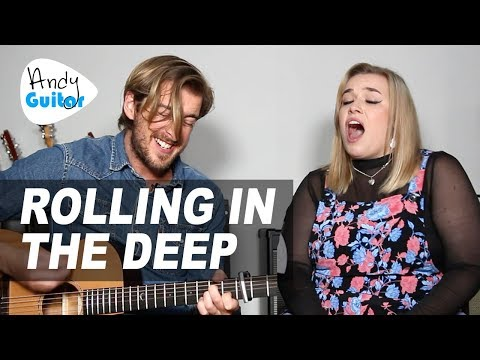ADELE - 'ROLLING IN THE DEEP' Acoustic Guitar Cover