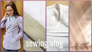Sewing Vlog: Sienna Makers Jacket, Silk Couture Robe, Draping My Wedding Dress Bodice