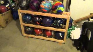 Homemade Bowling Ball Rack For Under $10
