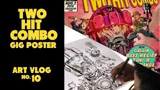 THE MAKING OF TWO HIT COMBO GIG POSTER || ART VLOG NO.10
