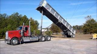 Kenworth  W900L Dumping Frameless Dump Trailer