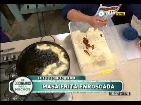Grispelles italianos, masa frita enroscada