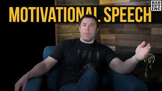 A friend asked me to record a motivational speech…