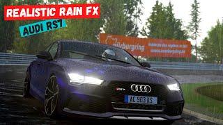 Realistic Rain FX | Audi RS7 | FPV | Assetto Corsa