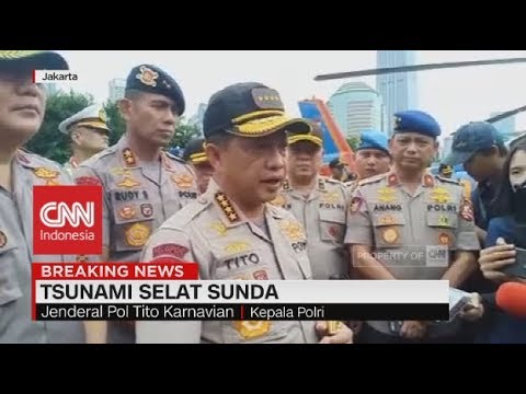 Tito Karnavian Tinjau Lokasi Tsunami di Pandeglang & Lampung Selatan