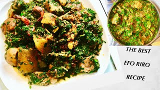 NIGERIA EFO RIRO SOUP| HOW TO MAKE NO RED OIL EFO RIRO-SPINACH STEW