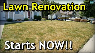 Why You Should START Lawn Renovation Now... // Project Lawn Full Renovation Intro