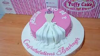 Dress Bridal Shower | Fondant Cake | Design Ideas