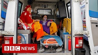 Indian hospitals send SOS as Covid toll surges - BBC News