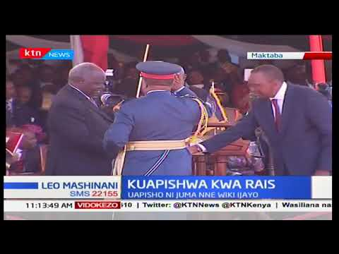 Matayariso ya kuapisha rais mteule Uhuru Kenyatta na naibu wake William Ruto yaendelea
